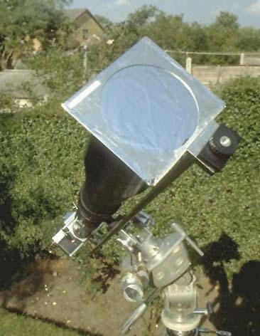 روش قرار دادن فیلتر در جلوی تلسکوپ شکستی